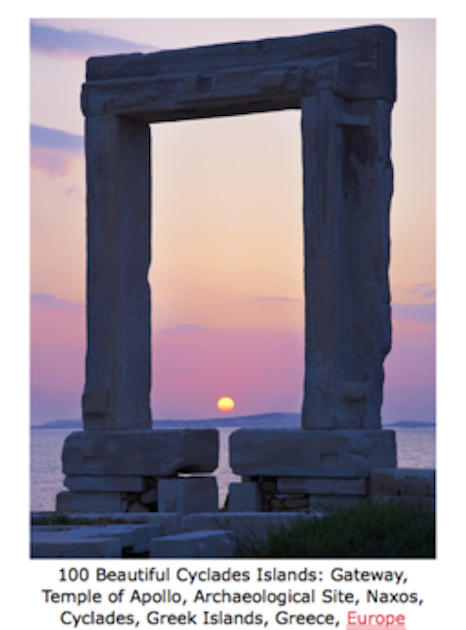 100 Beautiful Cyclades Islands - Gateway, Temple of Apollo, Archaeological Site, Naxos, Cyclades, Greek Islands, Greece, Europe.