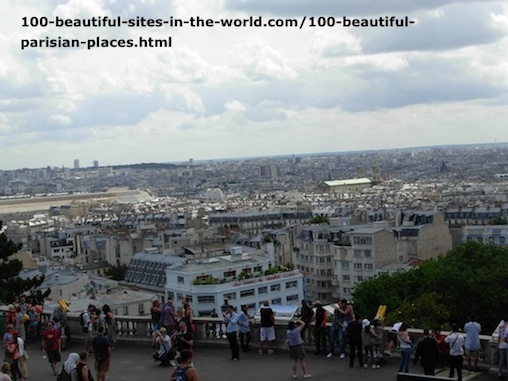 100 Beautiful Parisian Places: Areal View, Paris.