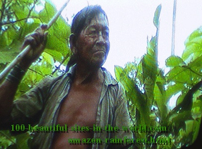 Amazonian Beautiful Images: Amazonian elder Hakeem protecting the soul of the rainforest.