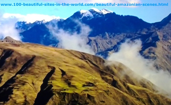 Beautiful Amazonian Scenes: Mist Over the Andes Mountains in Amazonia.