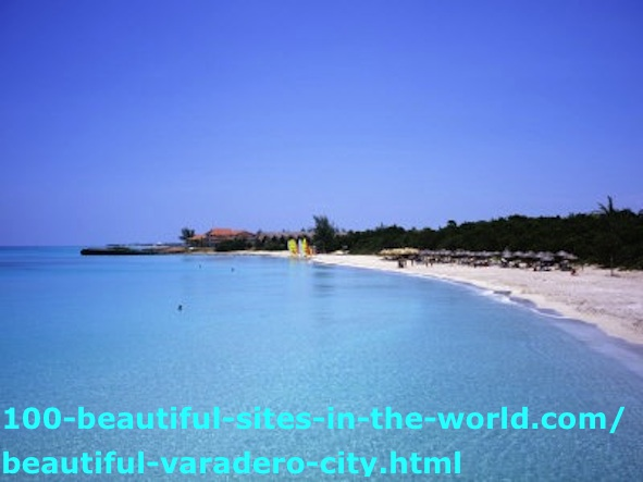 The Sea and Long Beaches of the Beautiful Varadero City, Cuba.