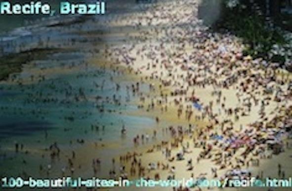 Beautiful Beach of Recife, Brazil, Latin America, Atlantic Coast.