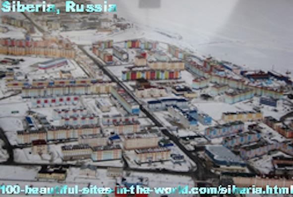 Beautiful Places in Siberia, Norilsk, Vorkuto, Magadan, Russia.