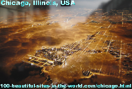 Beautiful Chicago City, Illinois, USA, America