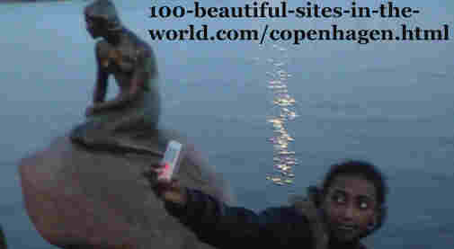100-beautiful-sites-in-the-world.com/copenhagen.html: Copenhagen: Beside little mermaid sculpture called Havfrue Skulpturen, Copenhagen Port illustrates H.C. Andersen's adventure Little Mermaid.