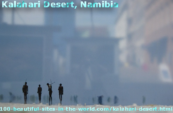 Kalahari Desert, the San People as Bushmen and Shamans in the Desert of Namibia.
