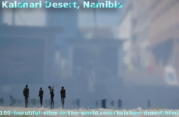 Kalahari Desert, the San People as Bushmen and Shamans in the Desert of Namibia.