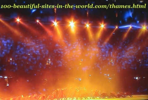 London Olympics show, 2012. London Olympics celebration show
