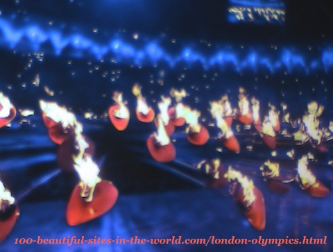 London Olympics 2012. The 205 copper petals of the main torch