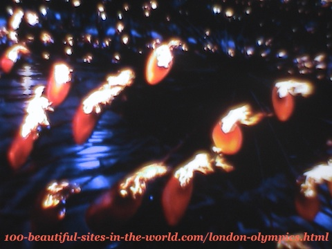 London Olympics 2012. The 205 copper petals before raising the main torch
