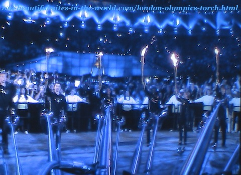 London Olympics 2012. The London Olympics torch celebration