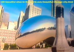The Millennium Park's Cloud Gate in Chicago is Very Beautiful.