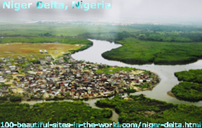 The Niger Delta: The Niger River Basin in Nigeria.