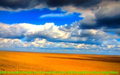 Travelling Clouds over the African Dry Savannah.