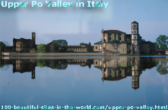 Upper Po Valley in Italy