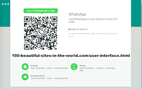 100-beautiful-sites-in-the-world.com/user-interface.html - User Interface: WhatsApp Image Scanning Code to Get it on Computer.