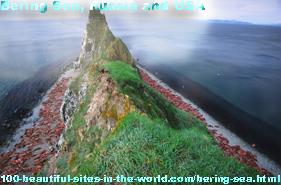 Bering Sea, Russia, USA, Tsar Peter the Great and Vitus Jonassen Bering