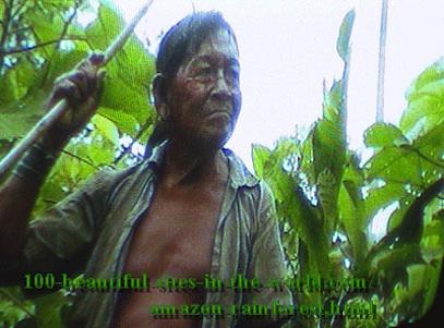 Amazonian Beautiful Images: Amazonian elder Hakeem protecting the soul of the rainforest.