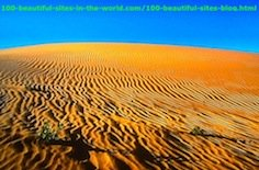 Art of Nature by the Sand on the African Desert.