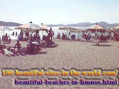 Beautiful Beach in Limnos Island