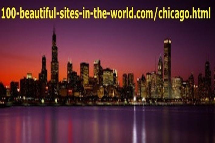 Beautiful Chicago City Skyline at Dusk, USA, North America.