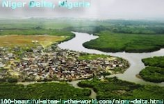 Beautiful Niger Delta, Niger River Basin, Nigeria, West Africa.
