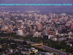 Beautiful Santiago City, the Capital City of Chile, Latin America.
