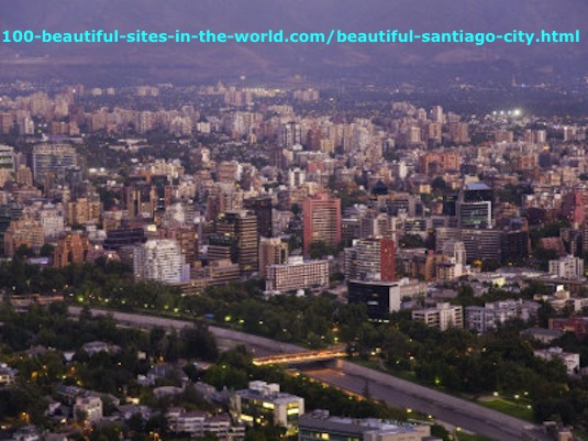 The Beautiful Santiago City, the Capital City of Chile.