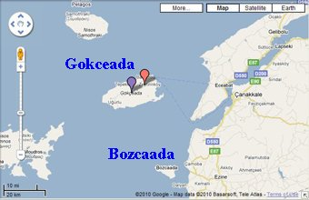 Beautiful Turkish Aegean Sea Islands Imbros (Gokceada) and Tenedos (Bozcaada)