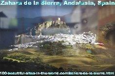 The Beautiful White Town of Zahara de la Sierra in Andalusia, Spain.