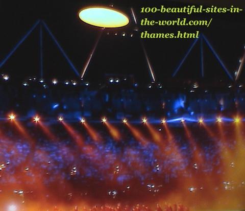 London Olympics 2012. Reflection of beautiful lights