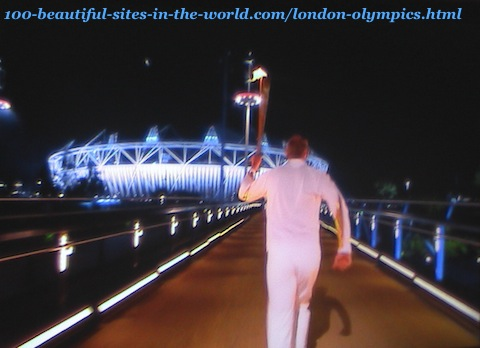 London Olympics 2012. While taking the torch to the stadium