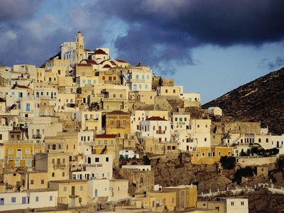 100 Beautiful Dodecanese Islands: Mountain Village of Olympus, Dodecanese Islands, Greece.