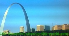 Saint Louis Gateway Arch, Major Port, Mississippi River, Louisiana.