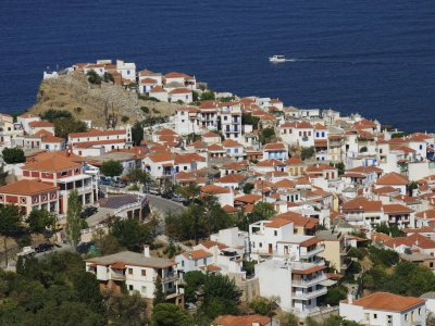 Skopelos Town, Beautiful Skopelos Island, Sporades Islands, Greece.