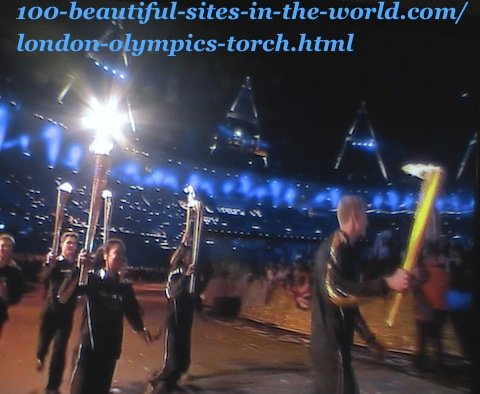 London Olympics 2012. Athletes running with torches during London Olympics-torch ceremony
