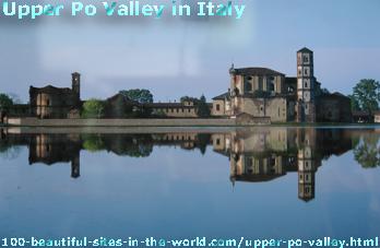 Upper Po Valley in Italy